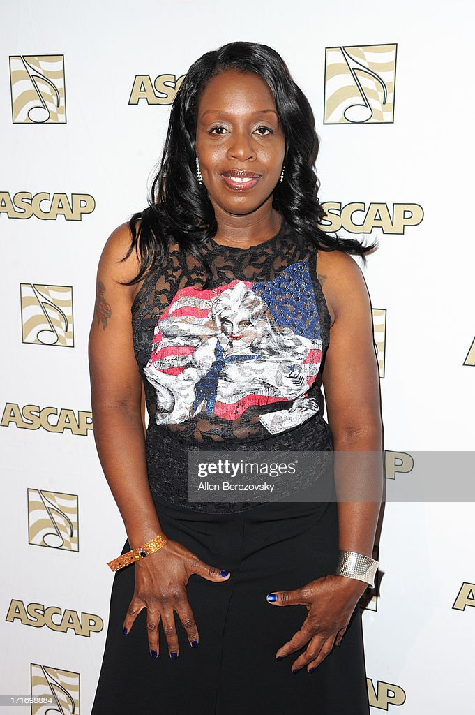Singer <a gi-track='captionPersonalityLinkClicked' href=/galleries/search?phrase=Andrea+Martin+-+Musician&family=editorial&specificpeople=14574346 ng-click='$event.stopPropagation()'>Andrea Martin</a> arrives at ASCAP's 26th Annual Rhythm & Soul Music Awards at The Beverly Hilton Hotel on June 27, 2013 in Beverly Hills, California.