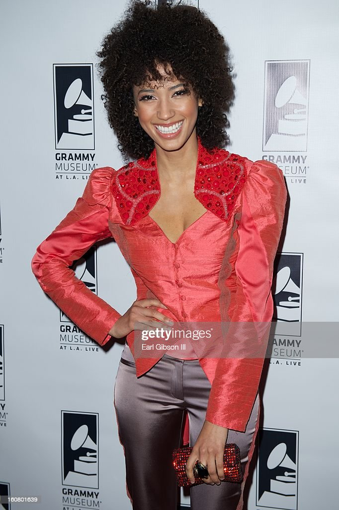 Singer Andy Allo attends 'Happy On The Ground: 8 Days At Grammy Camp' at The GRAMMY Museum on February 5, 2013 in Los Angeles, California.