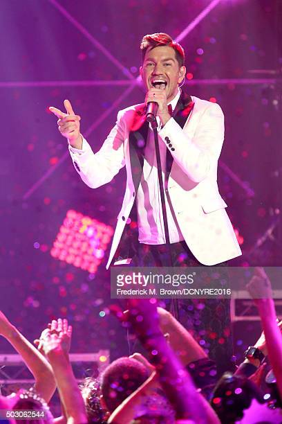 Singer Andy Grammer performs onstage at Dick Clark's New Year's Rockin' Eve with Ryan Seacrest 2016 on December 31 2015 in Los Angeles CA