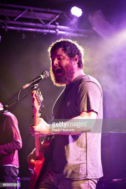 Singer Andy Hull of the American band Manchester Orchestra performs live on stage during a concert at the Frannz on November 3 2017 in Berlin Germany