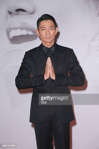 Singer Andy Lau attends the Anita Mui 10th Anniversary Concert at Hong Kong Convention and Exhibition Centre on December 30 2013 in Hong Kong Hong...