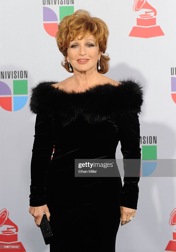 Singer Angelica Maria arrives at the 11th annual Latin GRAMMY Awards at the Mandalay Bay Resort & Casino on November 11, 2010 in Las Vegas, Nevada.