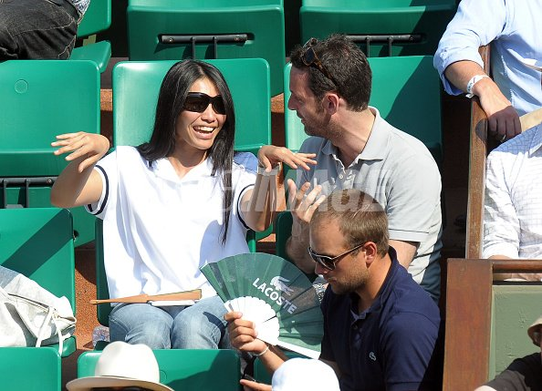 Singer anggun and writer cyril montana sighting at the french open on wireimage 101629024 - French intellectual property office ...