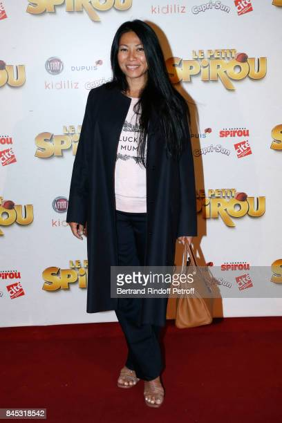 Singer Anggun attends the 'Le Petit Spirou' Paris Premiere at Le Grand Rex on September 10 2017 in Paris France
