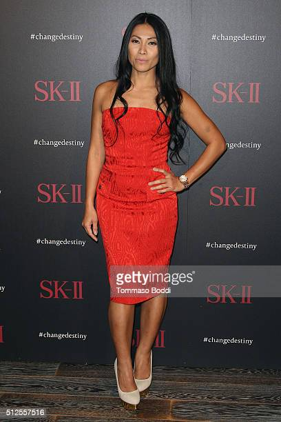 Singer Anggun attends the SKII #ChangeDestiny Forum held at the Andaz Hotel on February 26 2016 in Los Angeles California