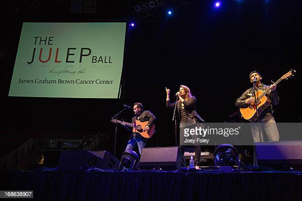 Singer Angie Johnson performs onstage during the Julep Ball 2013 during the 139th Kentucky Derby at KFC YUM Center on May 3 2013 in Louisville...