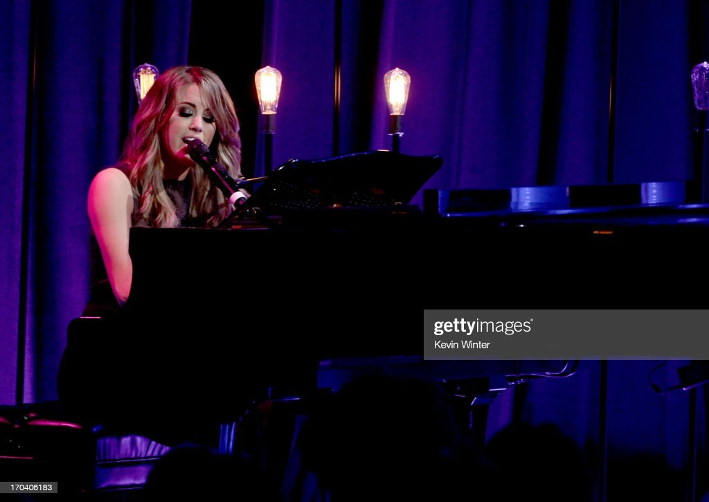 Singer Angie Miller performs onstage during Women In Film's 2013 Crystal + Lucy Awards at The Beverly Hilton Hotel on June 12, 2013 in Beverly Hills, California.