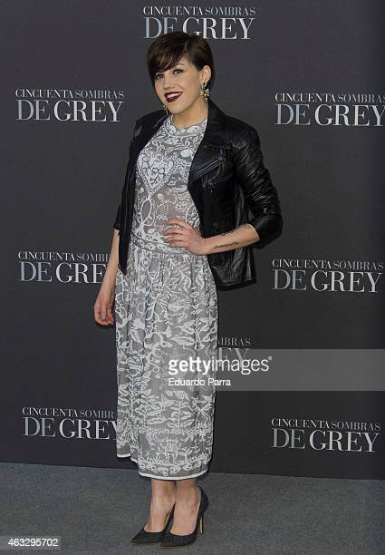 Singer Angy Fernandez attends '50 Shades of Grey' premiere at Callao City Lights cinema on February 12 2015 in Madrid Spain