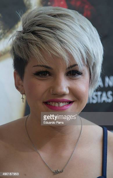 Singer Angy Fernandez attends 'The Hole 2' closing party photocall at La Latina theatre on May 13 2014 in Madrid Spain