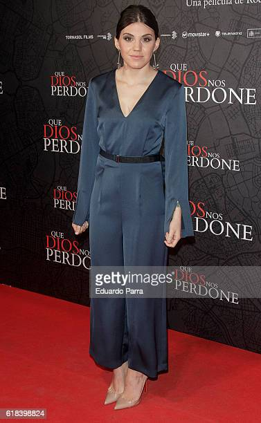 Singer Angy Fernandez attends the 'Que Dios nos perdone' photocall at Capitol cinema on October 26 2016 in Madrid Spain
