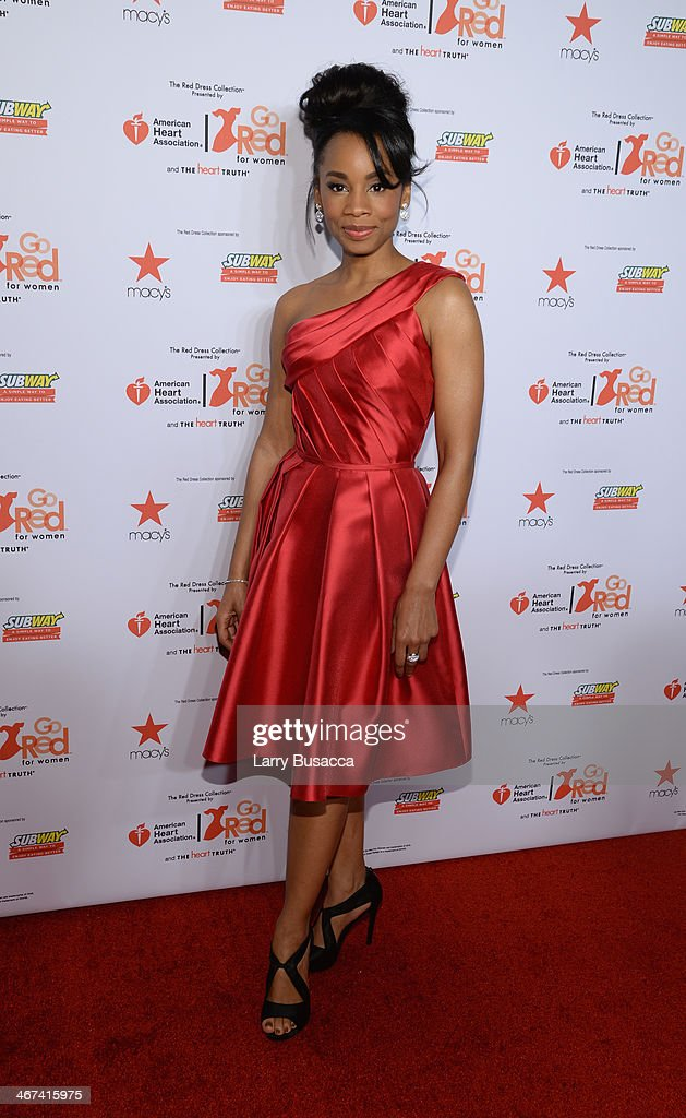 Singer <a gi-track='captionPersonalityLinkClicked' href=/galleries/search?phrase=Anika+Noni+Rose&family=editorial&specificpeople=227294 ng-click='$event.stopPropagation()'>Anika Noni Rose</a> attends Go Red For Women The Heart Truth Red Dress Collection 2014 Show Made Possible By Macy's And SUBWAY Restaurants at The Theatre at Lincoln Center on February 6, 2014 in New York City.