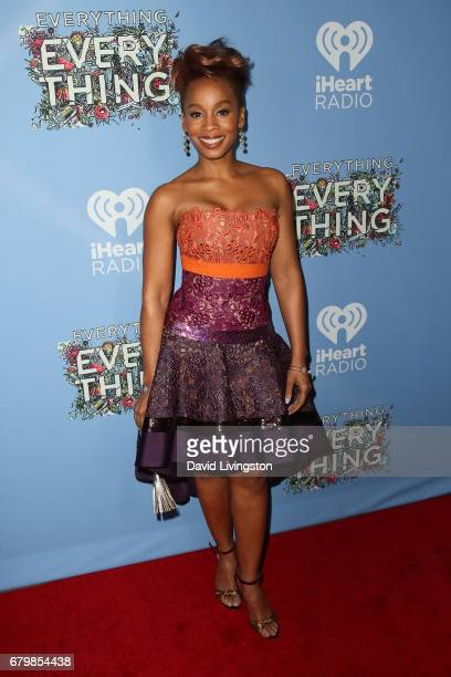 Singer Anika Noni Rose attends the screening of Warner Bros Pictures' 'Everything Everything' at the TCL Chinese Theatre on May 6 2017 in Hollywood...