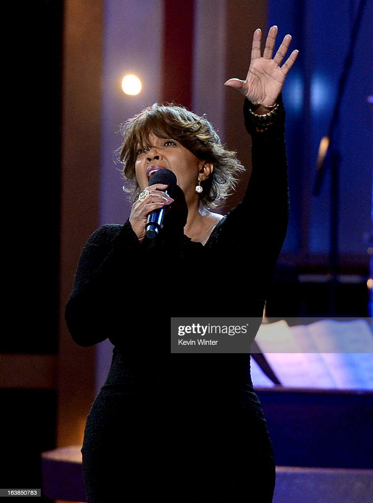 Singer Anita Baker performs onstage during the BET Celebration of Gospel 2013 at Orpheum Theatre on March 16, 2013 in Los Angeles, California.