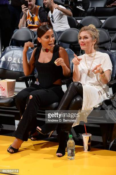 Singer Anitta attends the game between the Los Angeles Lakers and the Philadelphia 76ers on March 12 2017 at STAPLES Center in Los Angeles California...