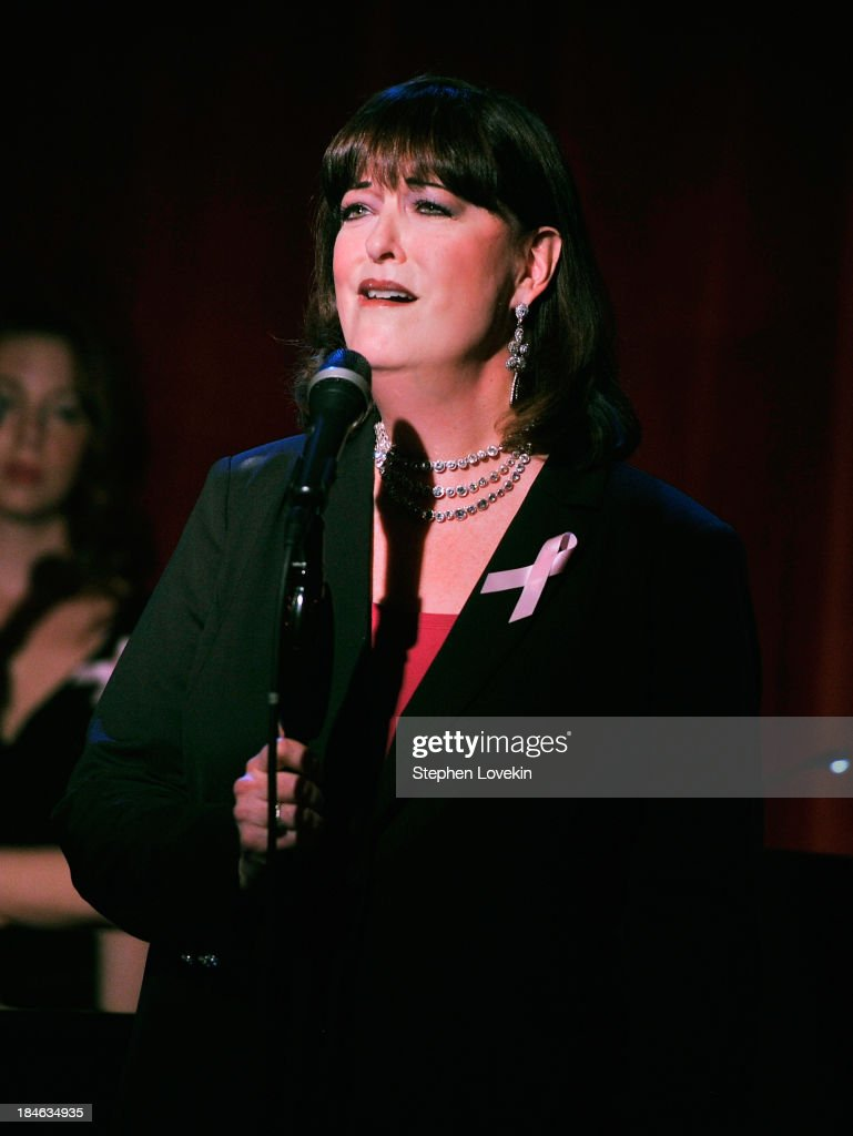 APPLY Singer Ann Hampton Callaway performs during 'The Actors Fund And Tower Cancer Research' benefit concert at Birdland Jazz Club on October 14, 2013 in New York City.