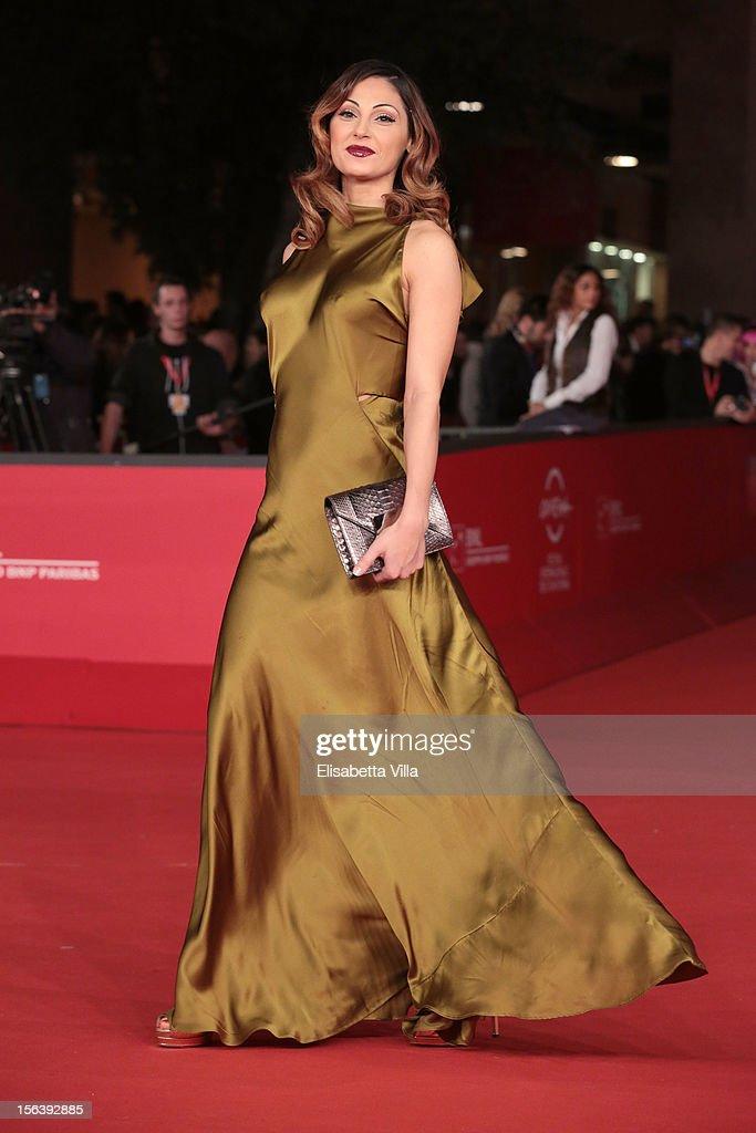 Singer Anna Tatangelo attend the 'E La Chiamano Estate' Premiere during the 7th Rome Film Festival at the Auditorium Parco Della Musica on November 14, 2012 in Rome, Italy.