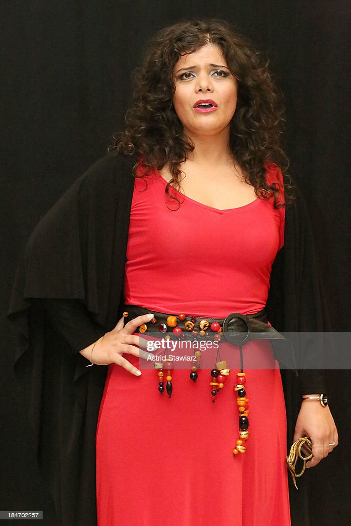 Singer Annalisa Madonna performs during the 'Voices Of Italy' press preview on October 15, 2013 in New York, United States.