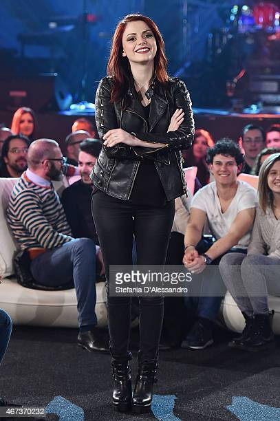 Singer Annalisa Scarrone attends RadioItaliaLive on March 23 2015 in Milan Italy