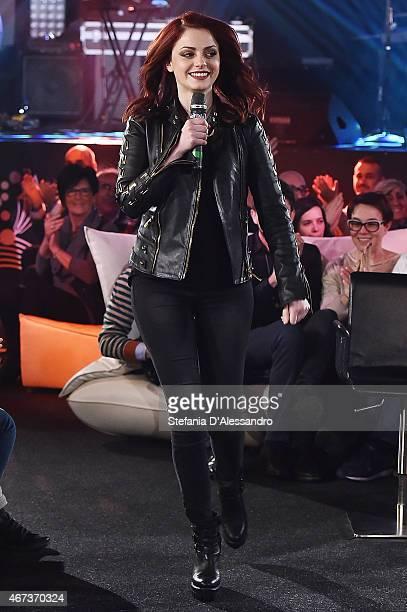 Singer Annalisa Scarrone attends RadioItaliaLive on March 23 2015 in Milan Italy
