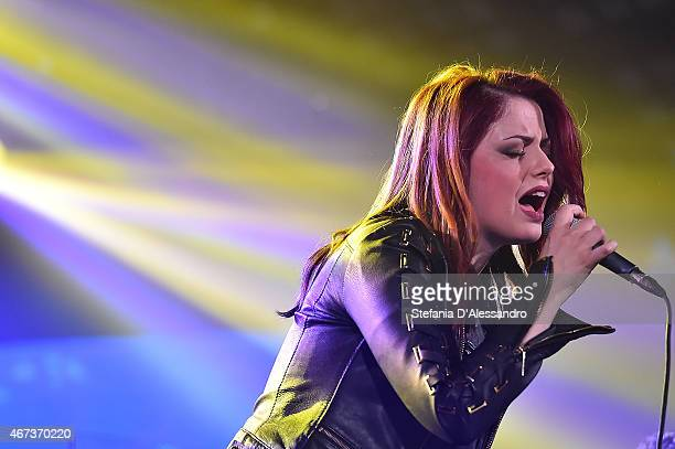 Singer Annalisa Scarrone performs live at RadioItaliaLive on March 23 2015 in Milan Italy