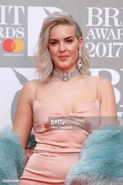 Singer AnneMarie attends The BRIT Awards 2017 at The O2 Arena on February 22 2017 in London England