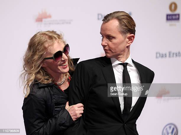 Singer Annette Humpe ans Max Raabe arrive for the Echo award 2011 at Palais am Funkturm on March 24 2011 in Berlin Germany