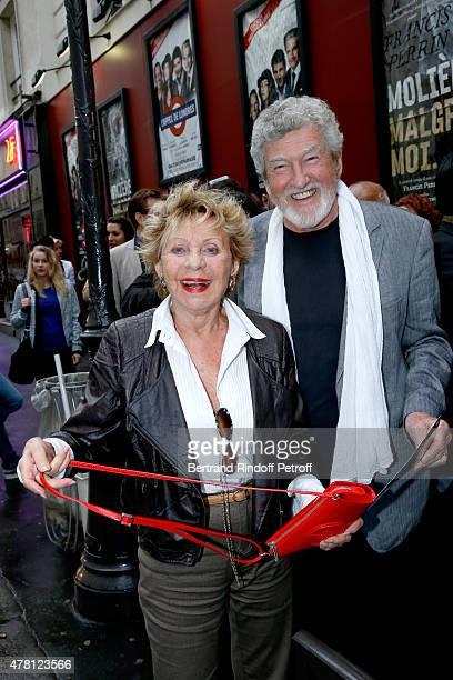 Singer Annie Cordy and Actor Patrick Prejean attend the 2015 Public performance of 'L'Entree Des Artistes' Held at Theatre de la Gaite Montparnasse...