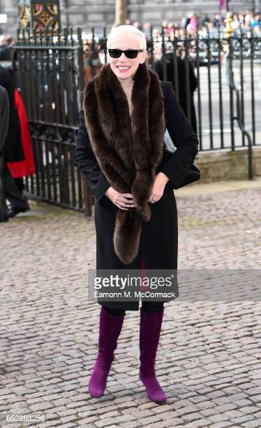 Singer Annie Lennox at the annual Commonwealth Day service and reception during Commonwealth Day celebrations on March 13 2017 in London England