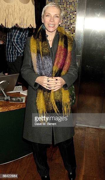 Singer Annie Lennox of Eurythmics attends the screening of Gwyneth Paltrow's favorite film 'Annie Hall' at The Electric Cinema on December 12 2005 in...