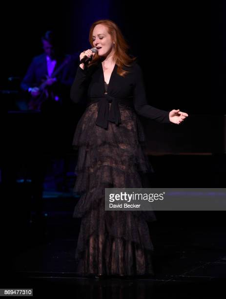 Singer Antonia Bennett performs before her father Tony Bennett debuts his limited engagement 'TONY The Best Is Yet To Come' at the Encore Theater at...