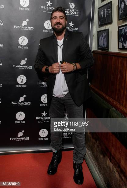 Singer Antonio Orozco attends the 'Chicote Awards 2017' photocall at Museo Chicote restaurant on September 27 2017 in Madrid Spain
