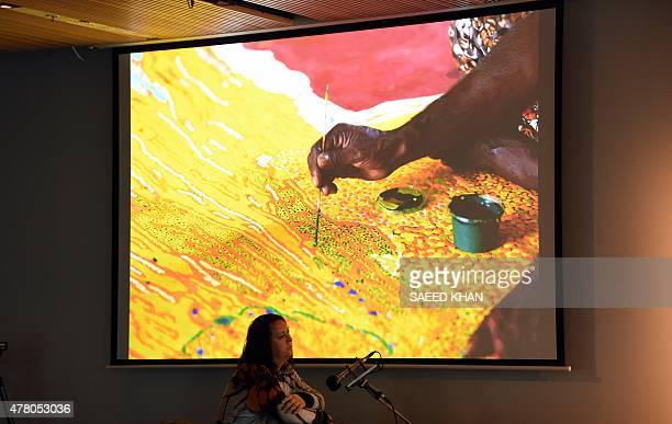 Singer Antony Hegarty performs during an event with Aboriginal artists at Sydney's Museum of Contemporary Art on June 22 2015 The Aboriginal group is...