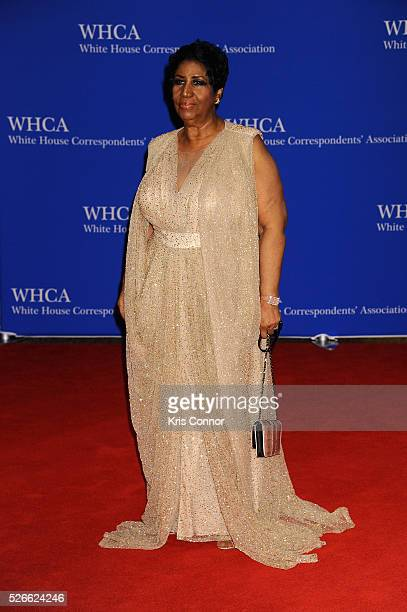 Singer Aretha Franklin attends the 102nd White House Correspondents' Association Dinner on April 30 2016 in Washington DC