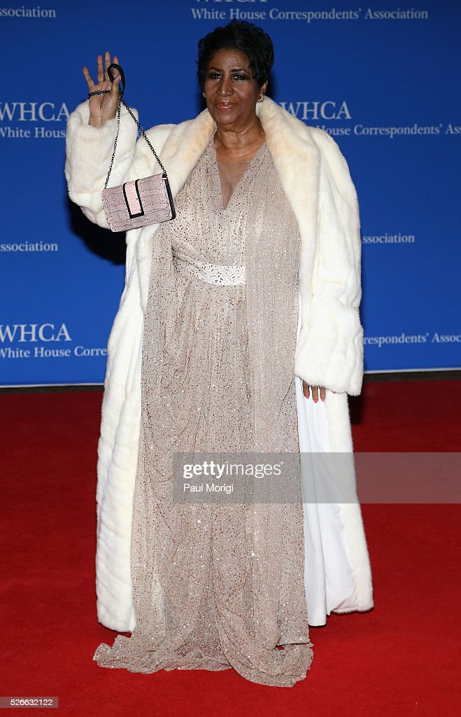 Singer Aretha Franklin attends the 102nd White House Correspondents' Association Dinner on April 30, 2016 in Washington, DC.