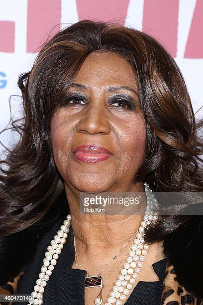Singer Aretha Franklin attends the 'Selma' New York Premiere at Ziegfeld Theater on December 14 2014 in New York City