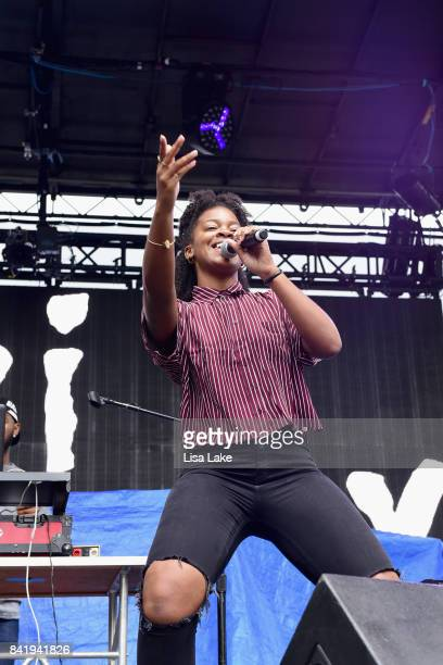 Singer Ari Lennox performs onstage during the 2017 Budweiser Made in America festival Day 1 at Benjamin Franklin Parkway on September 2 2017 in...