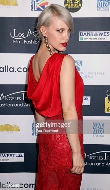 Singer Aria Crescendo attends the 9th Annual LA Italia Film Fashion And Art's Festival Closing Night Awards Ceremony at TCL Chinese Theatre on...