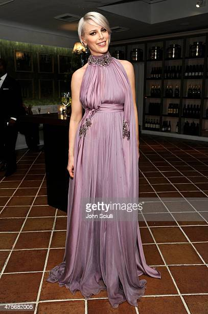 Singer Aria Crescendo attends the Women In Film PreOscar Cocktail Party presented by PerrierJouet MAC Cosmetics MaxMara at Fig Olive Melrose Place on...