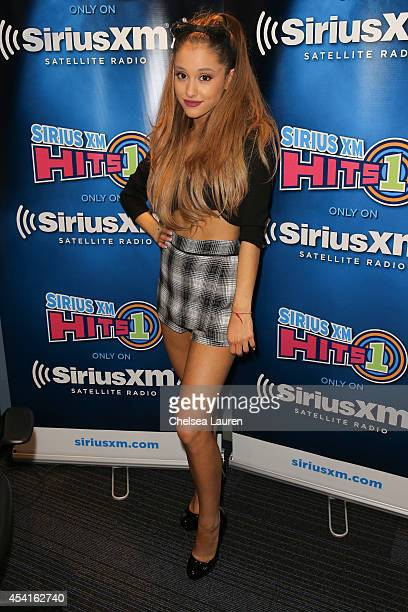Singer Ariana Grande attends SiriusXM Hits 1's The Morning Mash Up Broadcast at SiriusXM Studios on August 25 2014 in Los Angeles California