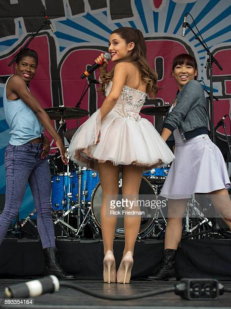 Singer Ariana Grande performing at a free concert sponsored by AMP 103 Radio on Boston City Hall Plaza in Boston MA on June 30 2013 Her full name is...