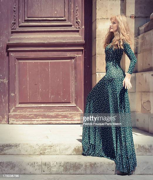 Singer Arielle Dombasle is photographed for Paris Match on July 9 2013 in Paris France