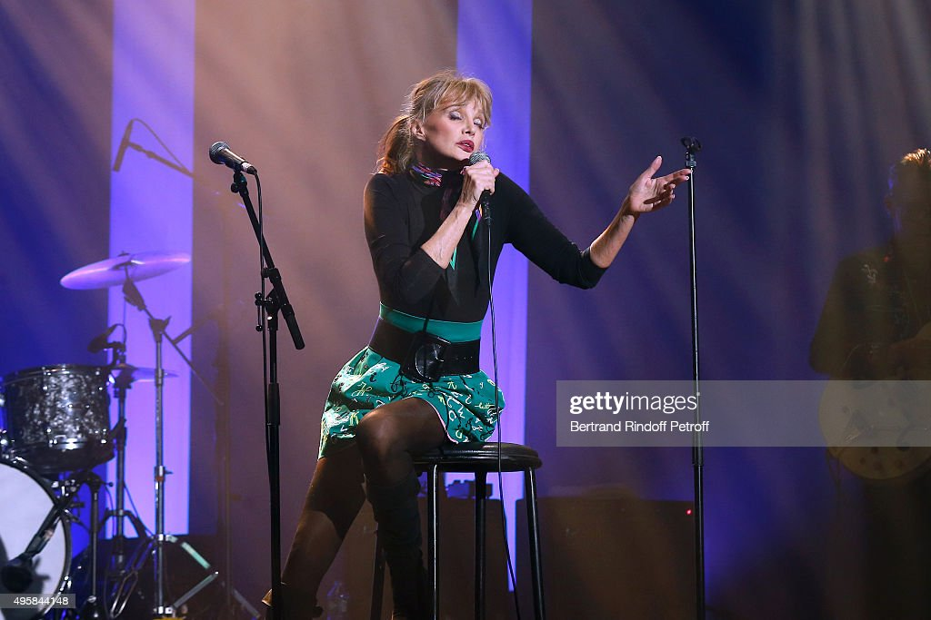 Singer Arielle Dombasle performs at La Cigale on November 4 2015 in Paris France