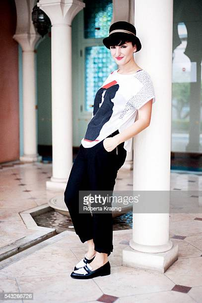 Singer Arisa is photographed for Self Assignment on September 7 2011 in Rome Italy