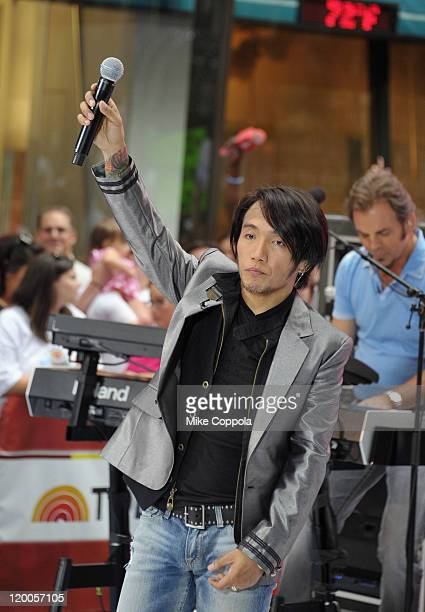 Singer Arnel Pineda of the band Journey performs at the 2011 Today Summer Concert series at Rockefeller Plaza on July 29 2011 in New York City