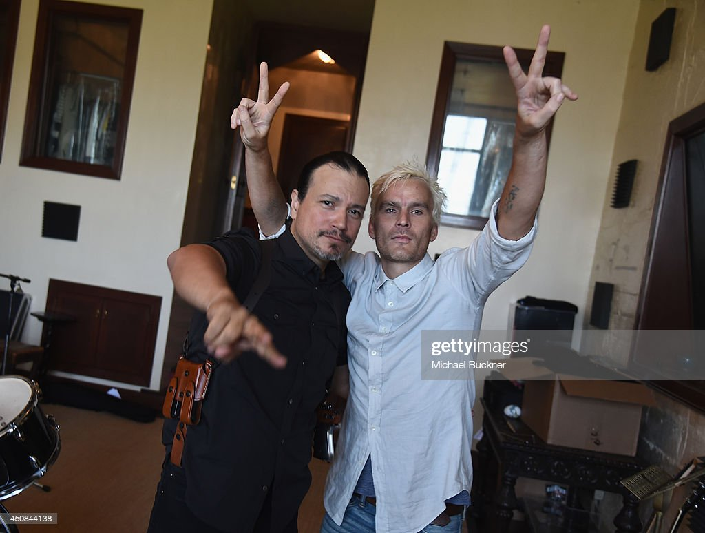 Singer Asdru Sierra and Balthazar Getty direct the music video for PurpleHaus Music's 'Marcando Paso' from Album ABSTRAKTO at a private residence on...