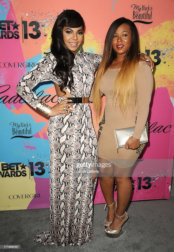 Singer Ashanti and her sister Kenashia attend Debra L. Lee's 7th annual VIP pre BET dinner event at Milk Studios on June 29, 2013 in Los Angeles, California.