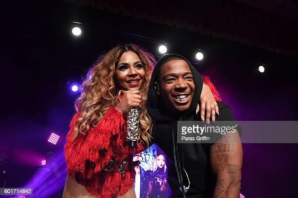 Singer Ashanti and rapper Ja Rule perform in concert at Buckhead Theatre on September 9 2016 in Atlanta Georgia