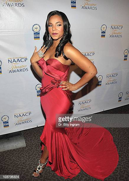 Singer Ashanti arrives at the 20th Annual NAACP Theatre Awards at Directors Guild Of America on August 30 2010 in Los Angeles California