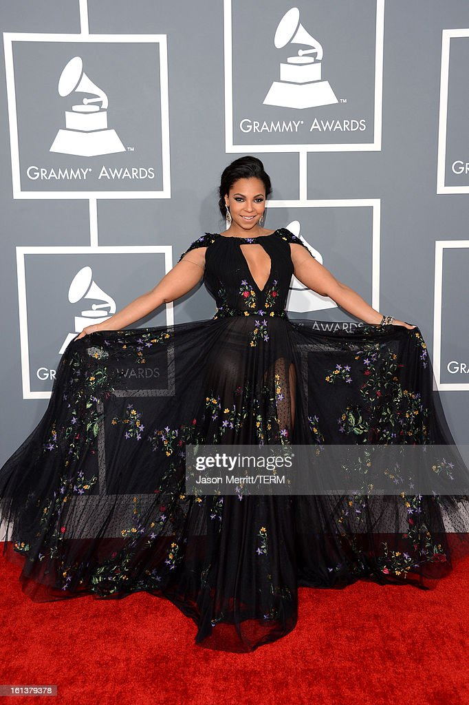 Singer Ashanti arrives at the 55th Annual GRAMMY Awards at Staples Center on February 10, 2013 in Los Angeles, California.