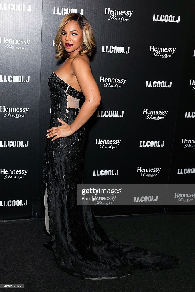Singer Ashanti attends as LL COOL J hosts a PreGrammy Awards Dinner at The Bazaar at the SLS Hotel Beverly Hills on January 25 2014 in Los Angeles...